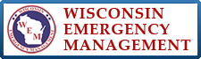 Wisconsin Emergency Management button